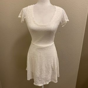 NWT Ocean Drive White Lace Open Back Skater Dress